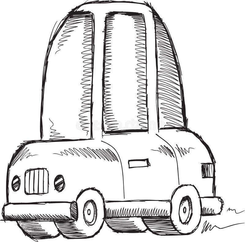 Klotterbilvektor vektor illustrationer
