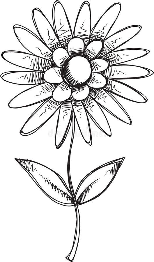 Klotterblommavektor royaltyfri illustrationer