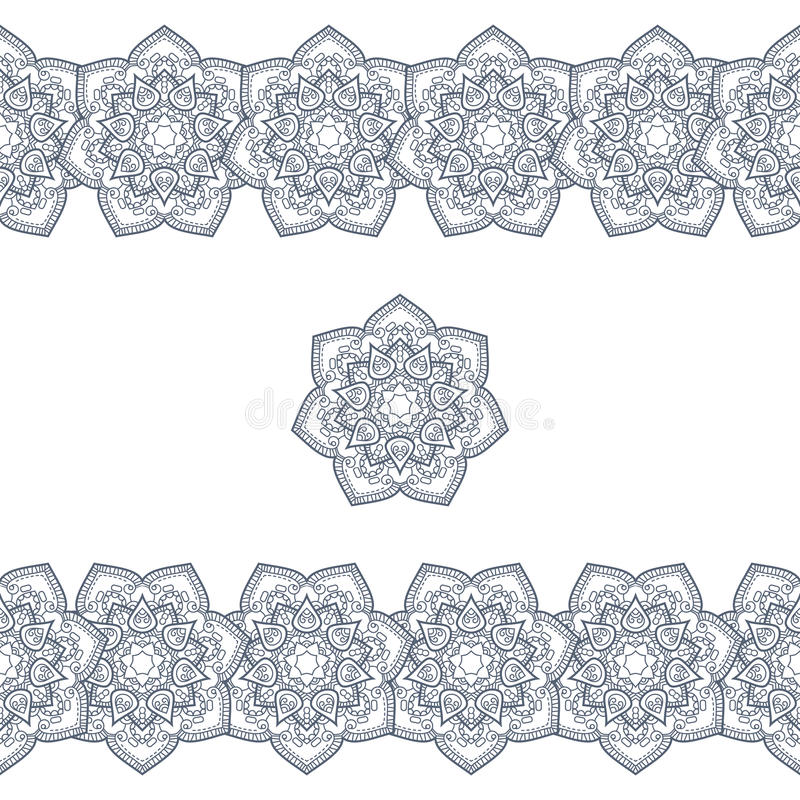 Klotterbohoram i svartvitt också vektor för coreldrawillustration vektor illustrationer