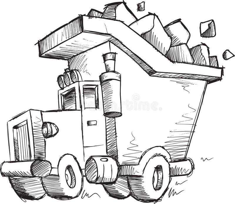 Klotterdumpervektor stock illustrationer