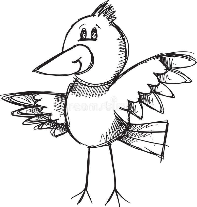 Klotterfågelvektor vektor illustrationer
