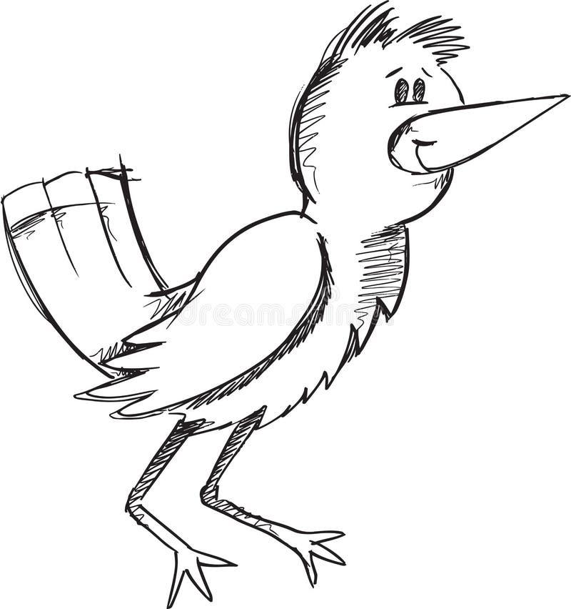 Klotterfågelvektor stock illustrationer