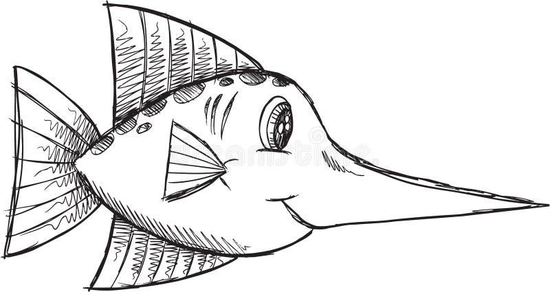 Klotterfiskvektor vektor illustrationer