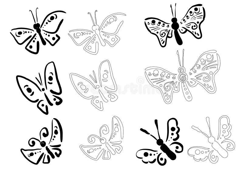 Klotterfjäril stock illustrationer