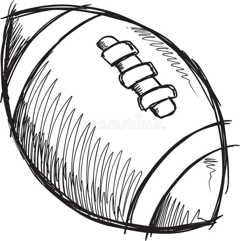 Klotterfotbollvektor stock illustrationer