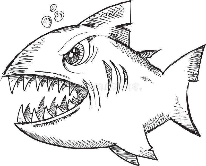 Klotterhajvektor stock illustrationer