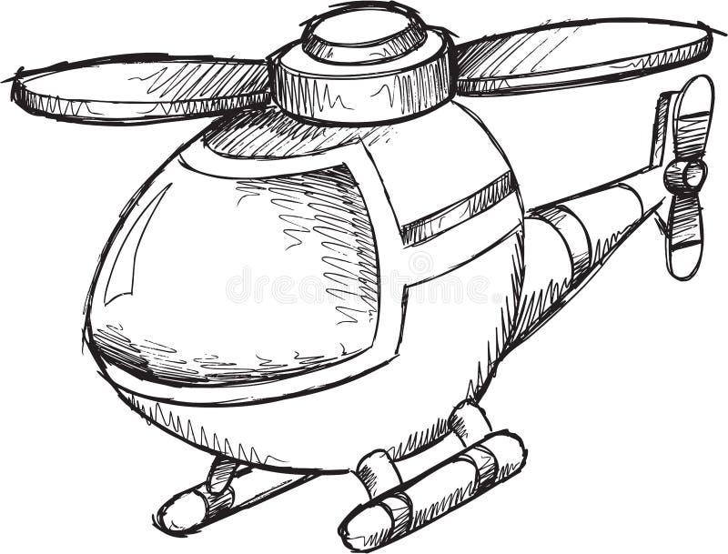 Klotterhelikoptervektor royaltyfri illustrationer