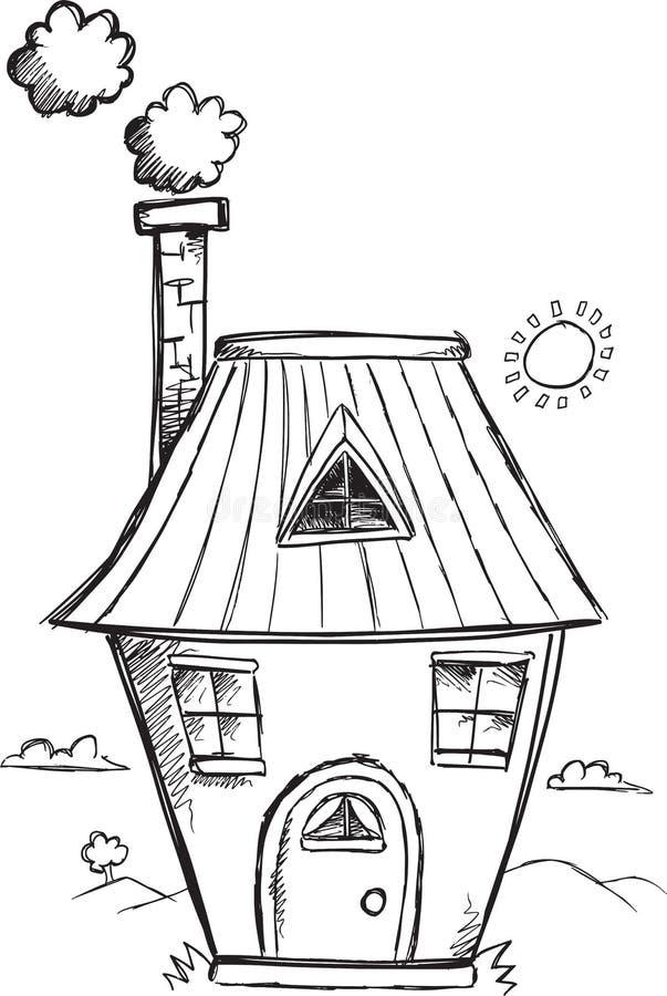 Klotterhusvektor royaltyfri illustrationer