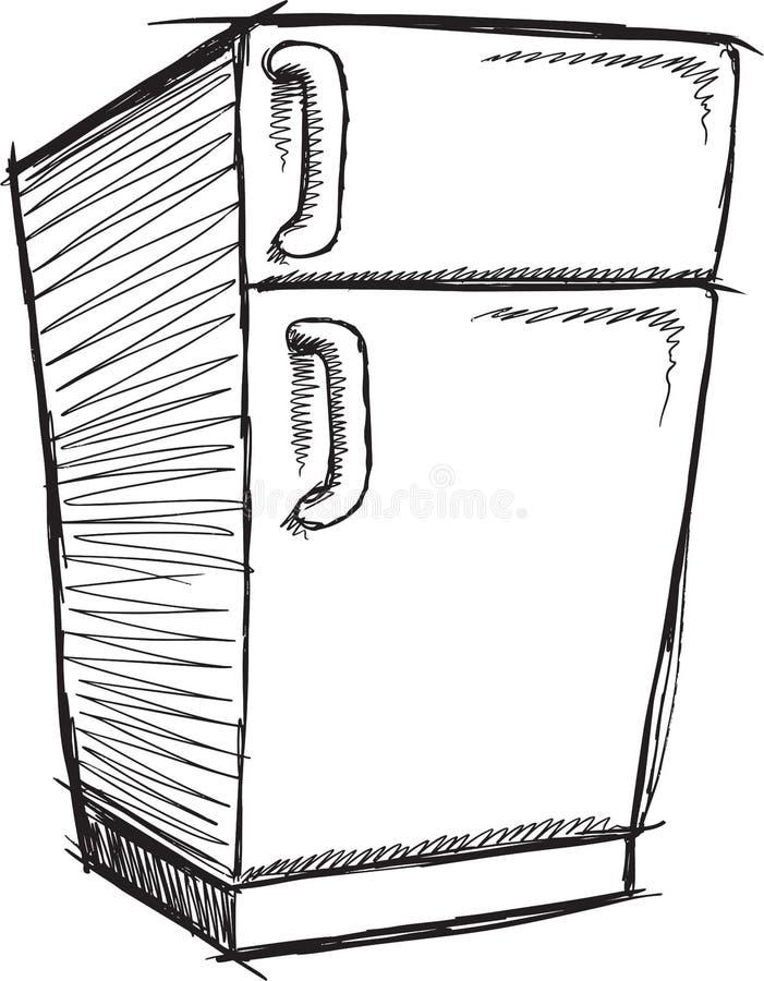 Klotterkylskåpvektor vektor illustrationer