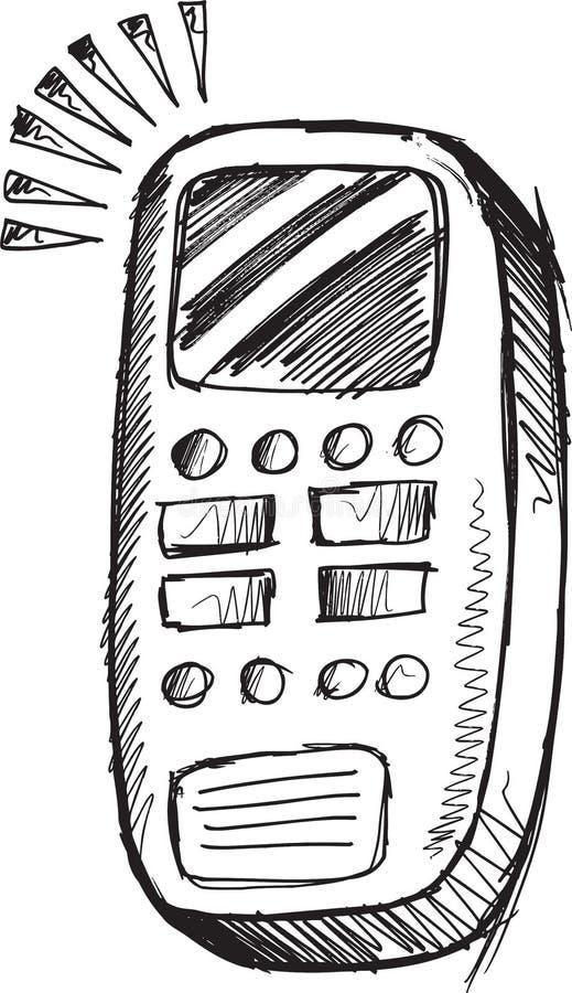 Klottermobiltelefonvektor royaltyfri illustrationer
