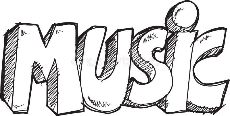 Klottermusikvektor stock illustrationer