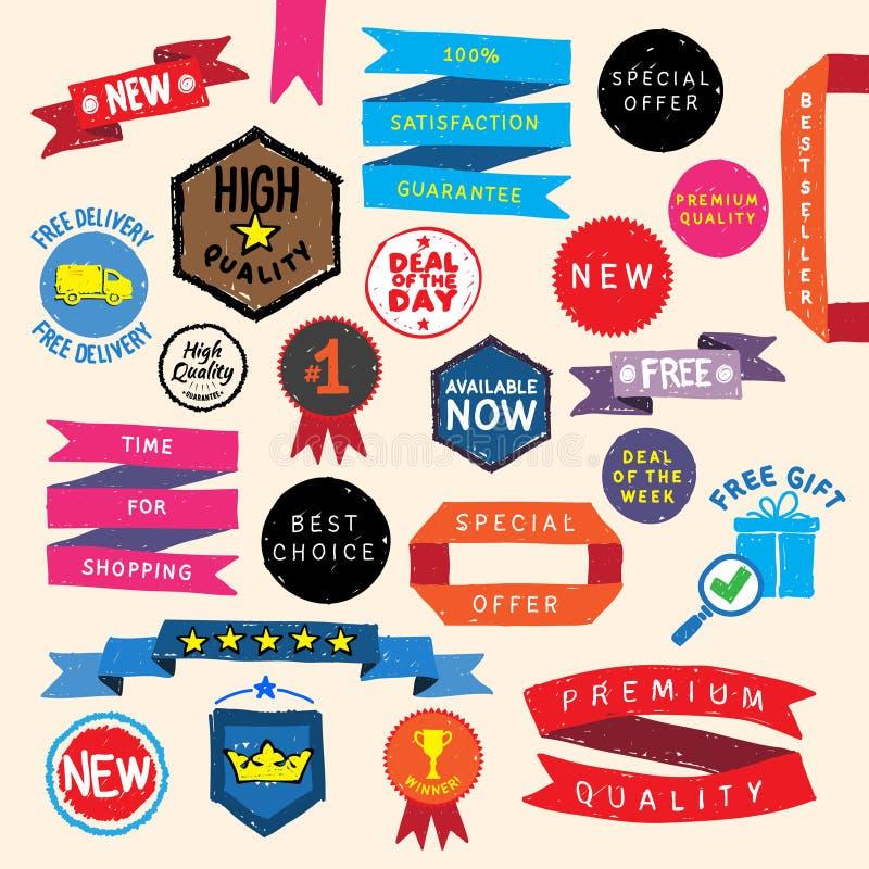 Klotterpromobeståndsdelar stock illustrationer