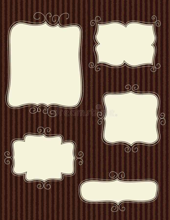 klotterramar royaltyfri illustrationer