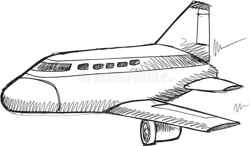 Klotterreklamfilm Jet Vector vektor illustrationer