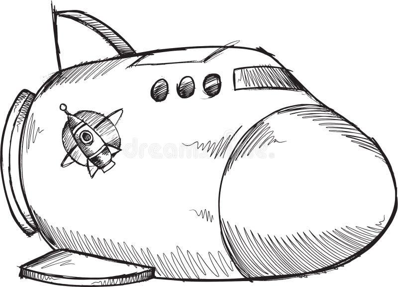 Klotterrymdskeppvektor royaltyfri illustrationer