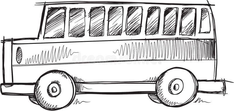 Klotterskolbussvektor stock illustrationer