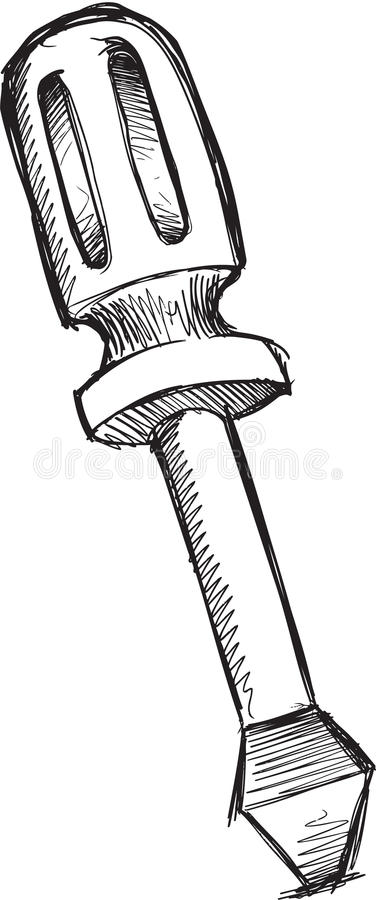 Klotterskruvmejselvektor stock illustrationer