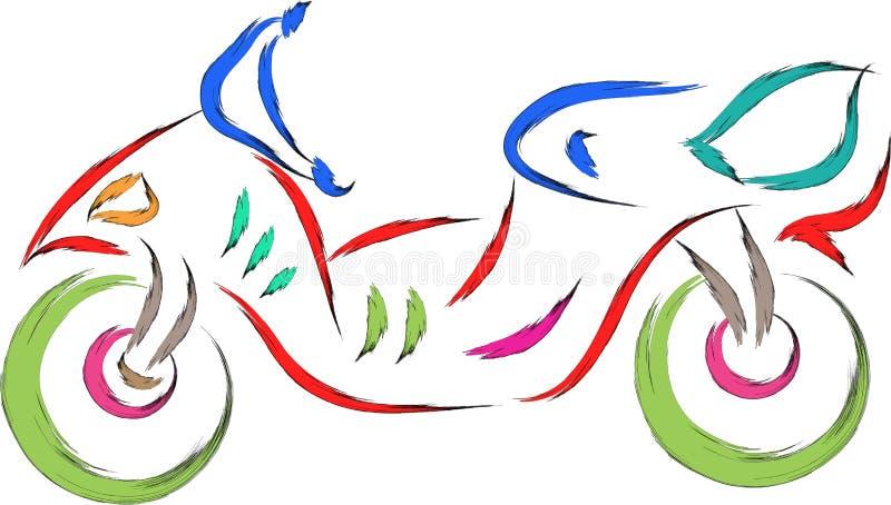 Klottersparkcykel royaltyfri illustrationer