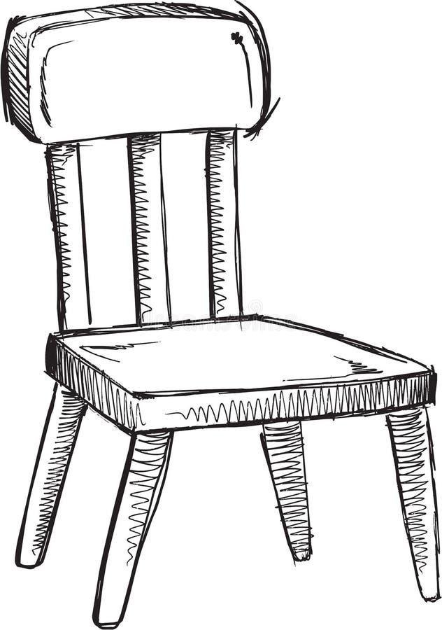 Klotterstolvektor royaltyfri illustrationer