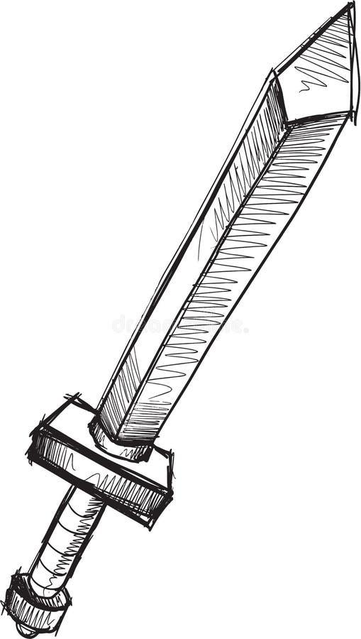 Klottersvärdvektor vektor illustrationer