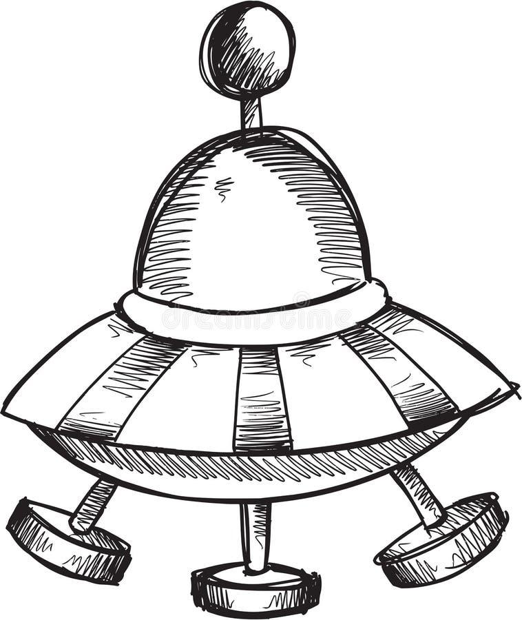 Klotterufovektor royaltyfri illustrationer