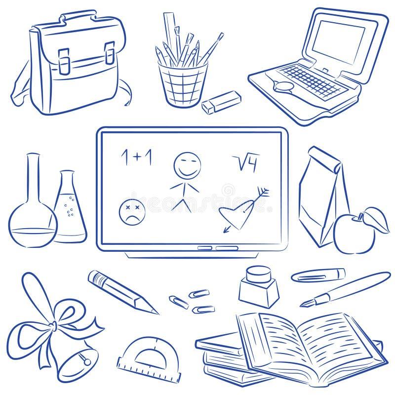 klotterutbildning vektor illustrationer