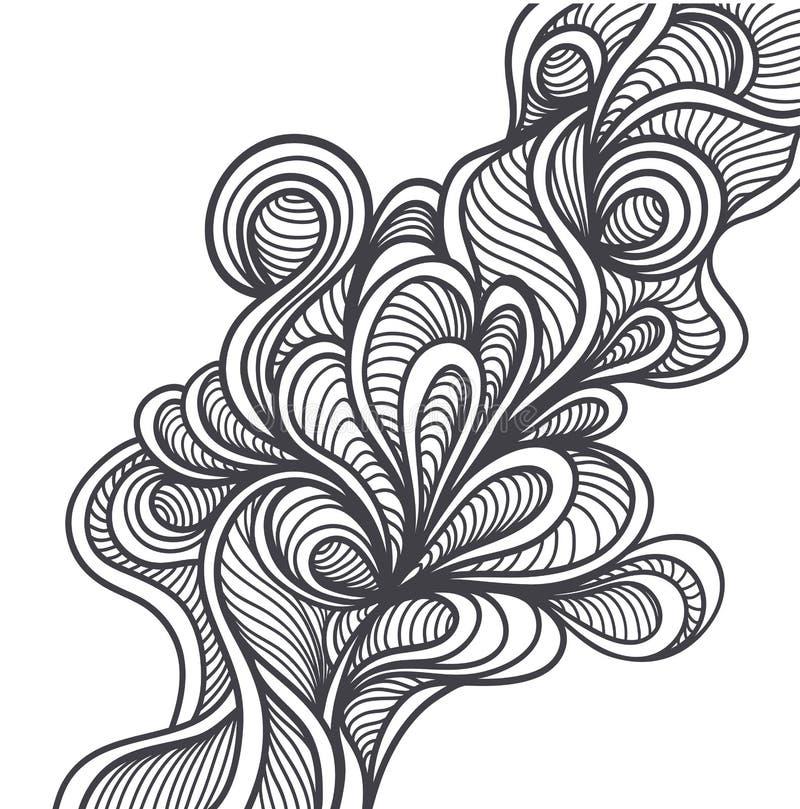 Klottra beståndsdelar i handgjord stil eller göra sammandrag klotterbakgrundssvart på vit vektor illustrationer