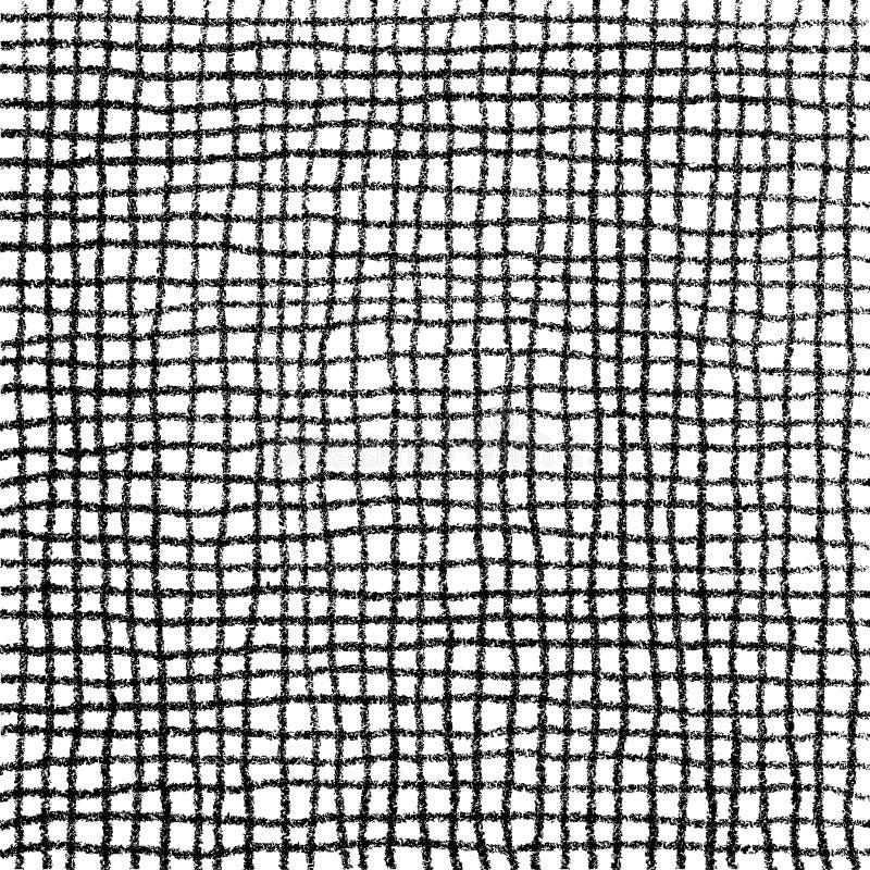 Klottra cellmodellhanden som med blyerts dras vektor illustrationer