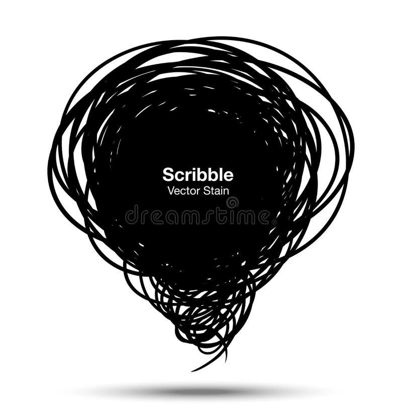 Klottra den svarta bubblan vektor illustrationer