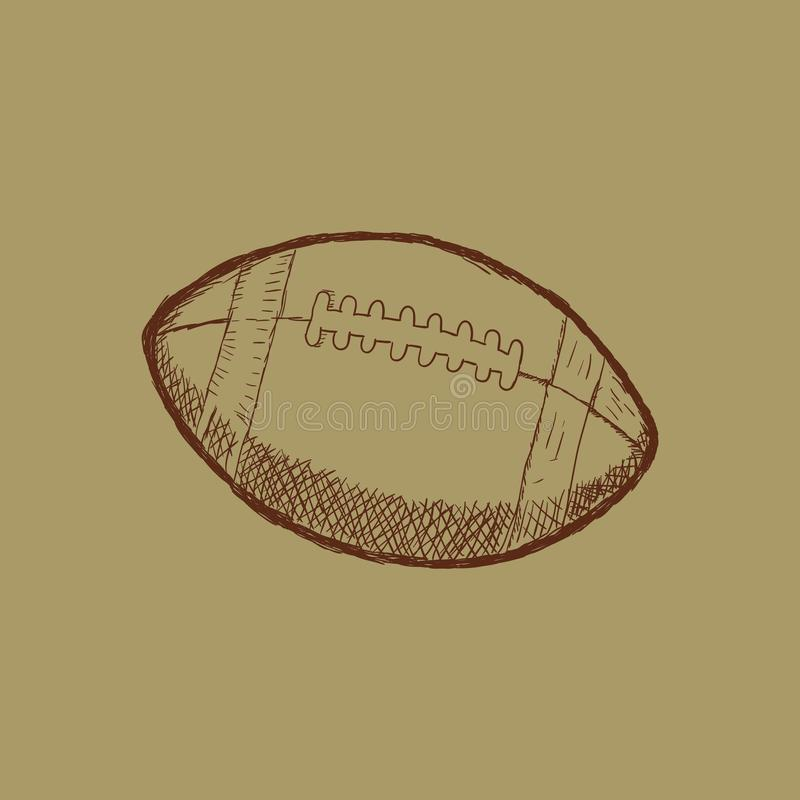 Klottra illustrationen för sportar för amerikansk fotboll för stil i formatet - vektor stock illustrationer