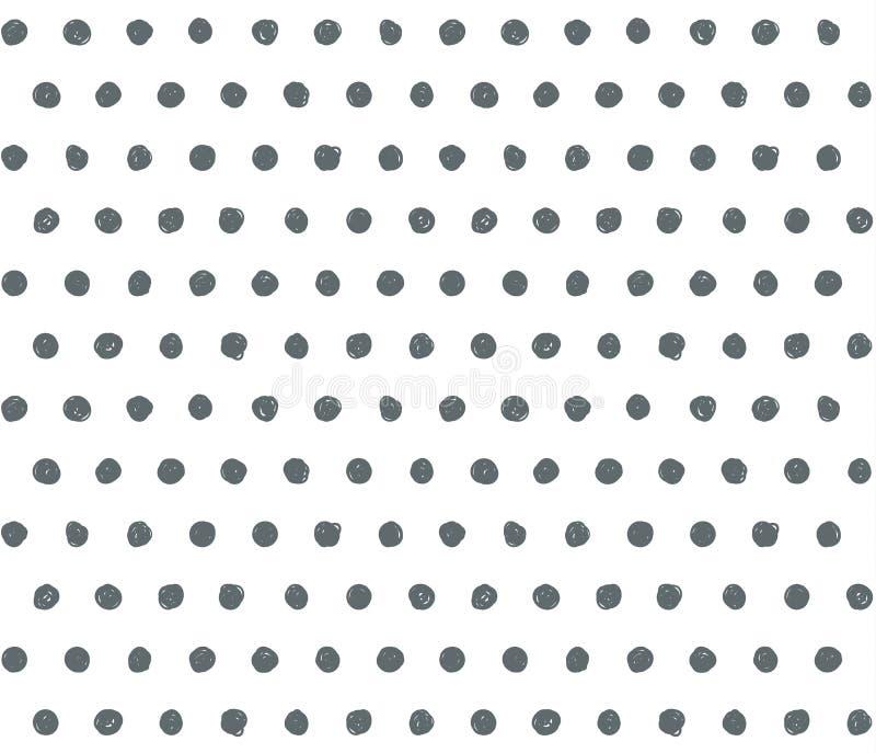 Klottra prickbakgrund vektor illustrationer