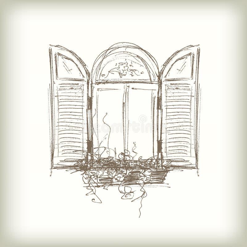Klottra vektorfönstret stock illustrationer