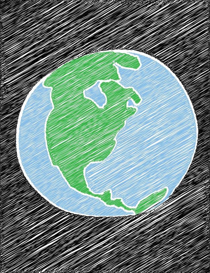 klottrad jord stock illustrationer
