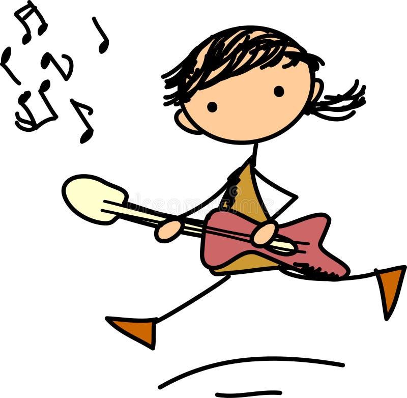 klottrar musikvektorn royaltyfri illustrationer
