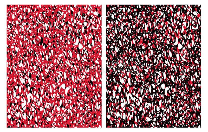 Klottrar utdraget uttrycksfullt ojämnt för hand vektormodeller stock illustrationer