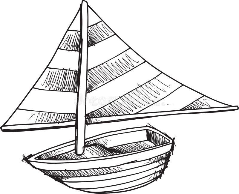 Klottret seglar fartygvektorn royaltyfri illustrationer