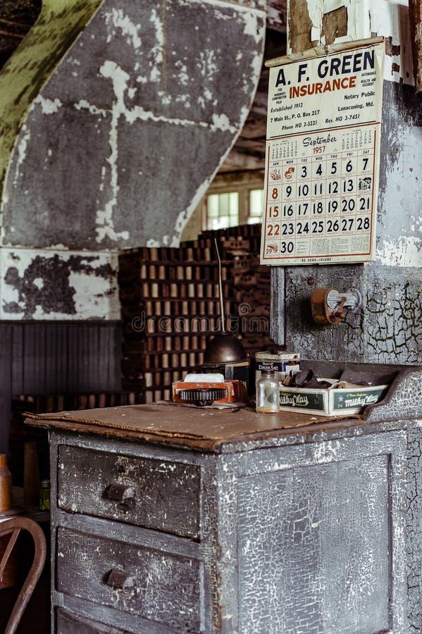 Klotz Throwing Company/Lonaconing-Zijdemolen - Lonaconing, Maryland royalty-vrije stock foto