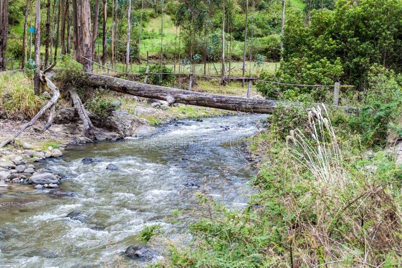 Klotzbrücke lizenzfreies stockbild
