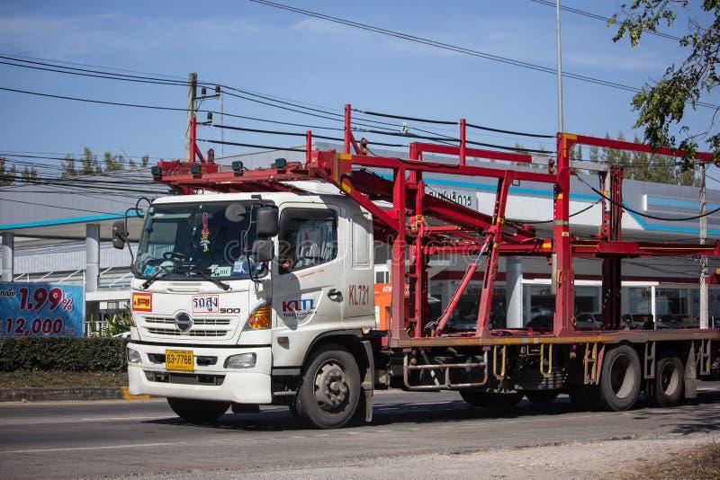 KLTL-de Vrachtwagen van de drageraanhangwagen stock afbeeldingen