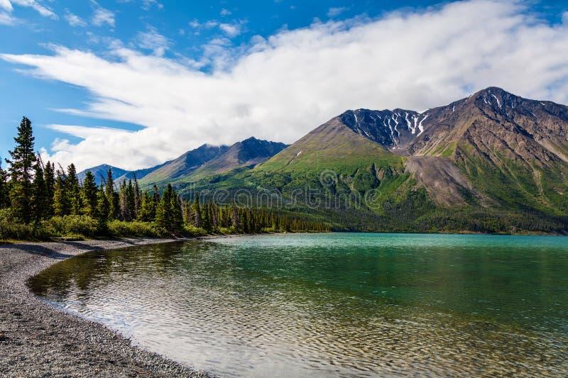 Kluane Sjö-Yukon territorium Kanada fotografering för bildbyråer