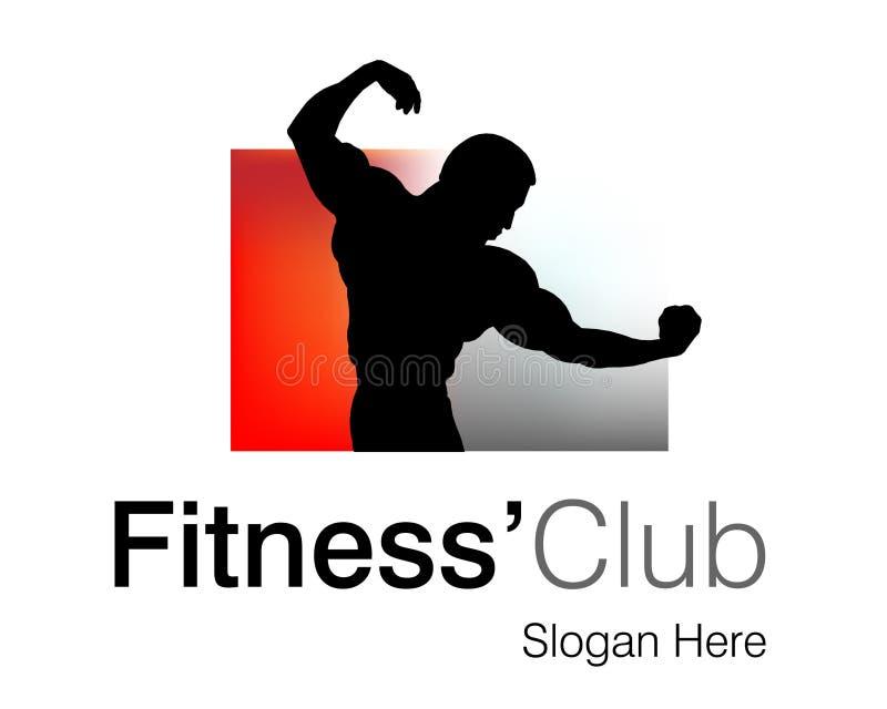 klub fitness logo royalty ilustracja