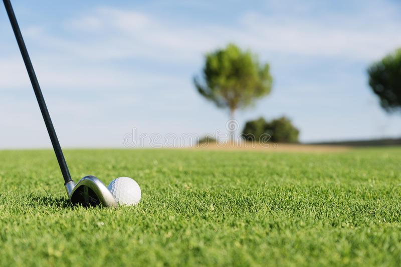 klub golfa piłką trawy obrazy stock