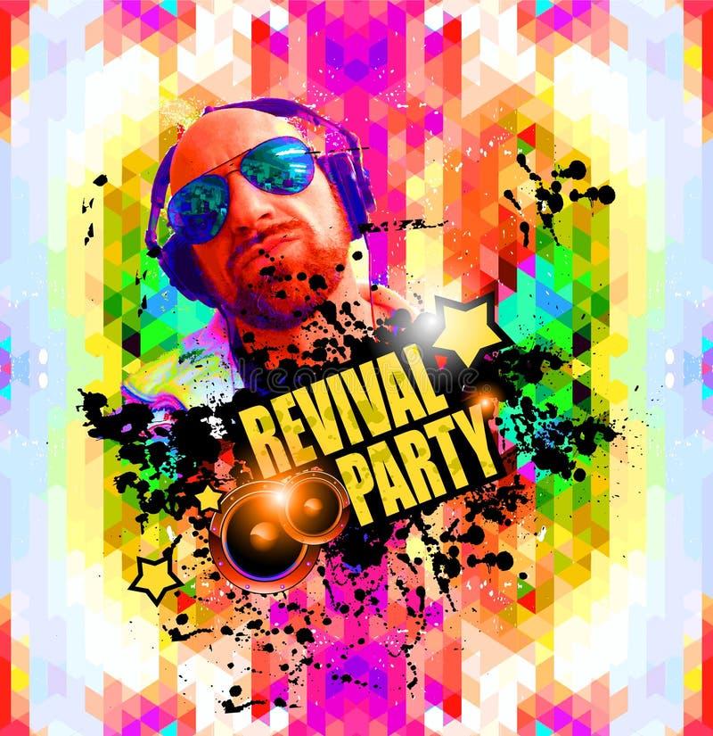Klubba diskoreklambladbakgrund för affischer för exklusiv händelse, vektor illustrationer