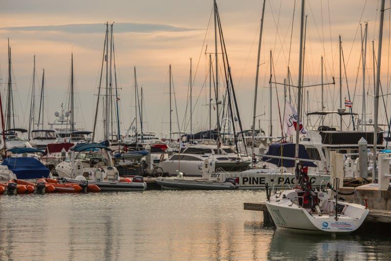 Klubba för havmarinayacht royaltyfria bilder