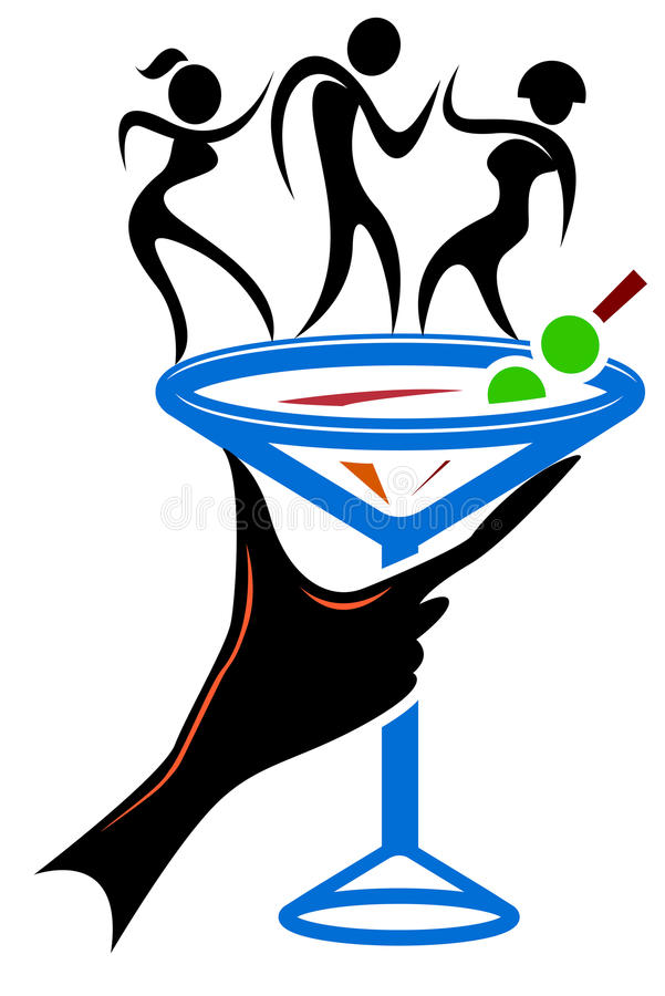 klubbadans vektor illustrationer
