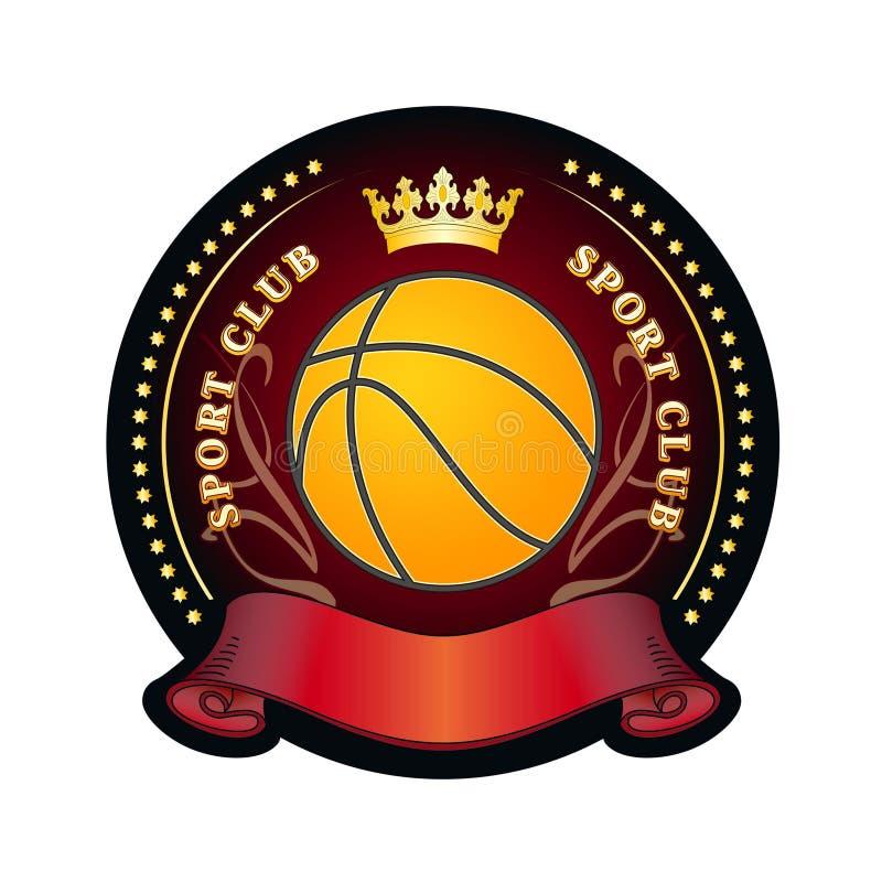 klubbaemblemsport royaltyfri illustrationer