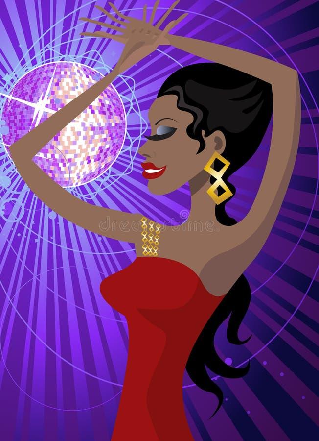 klubbakvinna royaltyfri illustrationer