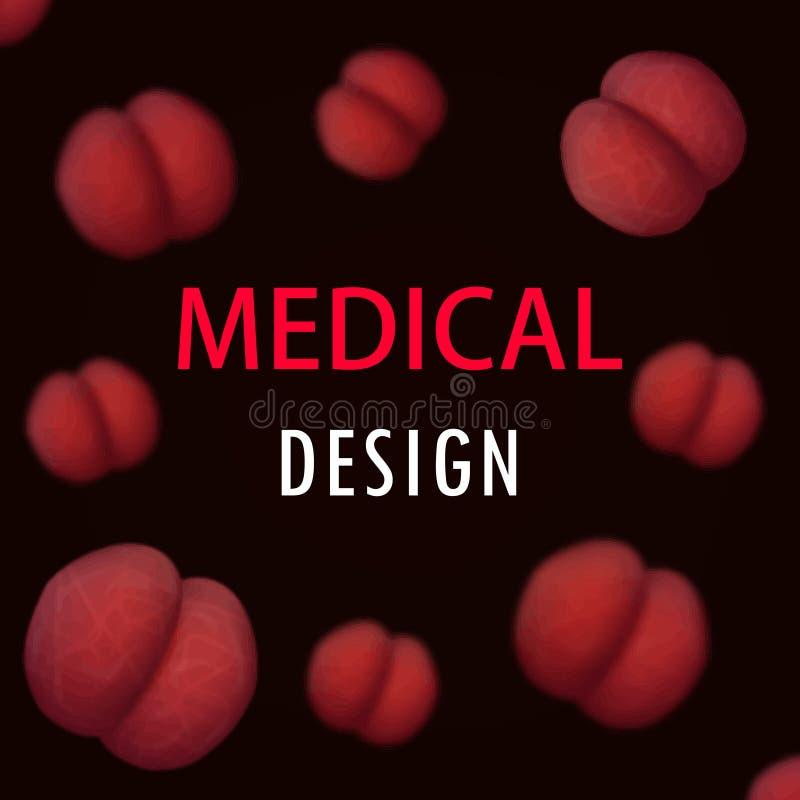 Klubban för dagen för bakgrund för den medicinska darckdesignvektorn gör suddig den abstrakta grafiska oskarp beröm royaltyfri illustrationer