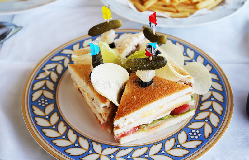 Klubbasmörgås royaltyfri foto