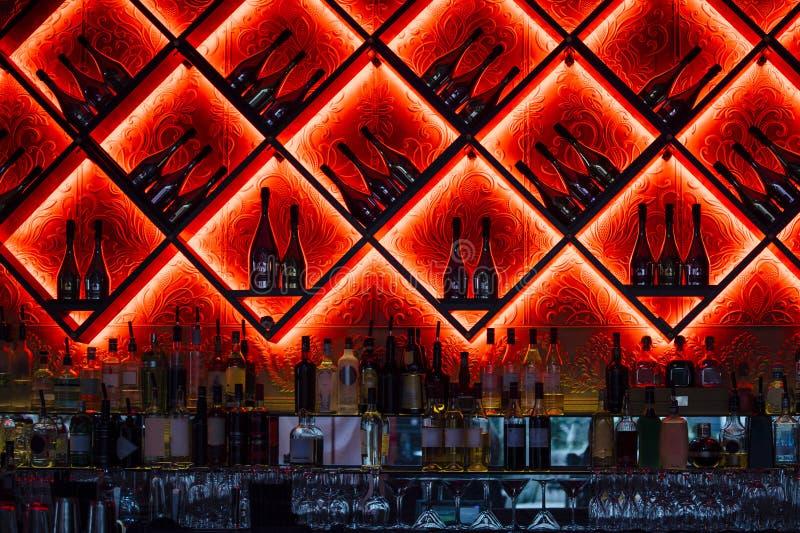Klubu nocnego Prętowy wnętrze zdjęcia stock